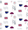 British symbols seamless pattern vector image