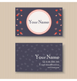 business card with hearts vector image