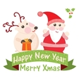 Christmas and New Year Greeting card Santa Claus vector image
