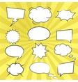 Comic book speech bubbles vector image