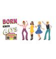 dancing super people vector image