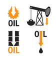 fall in oil prices set design template vector image