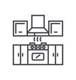kitchen furniture line icon si vector image