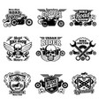 motorbike club vintage patches motorcycle vector image