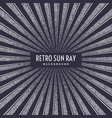 retro sun ray on background vector image