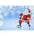 Skating santa vector image