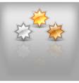 stars on gray vector image