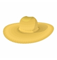 Straw hat cartoon icon vector image