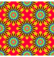 Coloful symmetric seamless pattern with flower for vector image