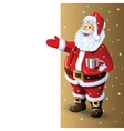 Santa Claus Cartoon Character Showing in Blank vector image vector image