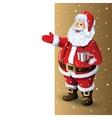 Santa Claus Cartoon Character Showing in Blank vector image