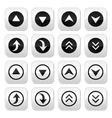 Up and down arrows buttons set vector image