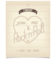 Poster with quote for valentines day vector image