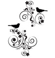 birds and flowers vector image vector image