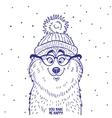 husky in hat vector image vector image