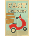 Delivery Poster vector image