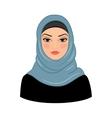 Arabic muslim woman vector image