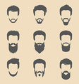 Set of cartoon head icons vector image