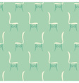 Vintage Restaurant Chairs Seamless Pattern vector image