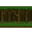 Cartoon computer games night forest landscape vector image