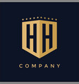 letter hh logo design vector image