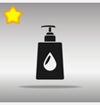 liquid soap black icon button logo symbol vector image