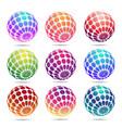 multicolored decorative balls vector image