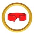 Red round arrow icon vector image