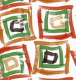 Rough brush green and brown squares vector image