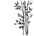Ink paint bamboo vector image