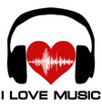 I love music vinyl cover for a music fan vector image
