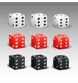 set of different dice vector image