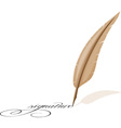 feather and signature vector image