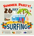 Hippie surfing poster vector image