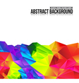 Abstract background colorful triangle polygonal vector image