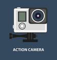 action camera logo camera for active sports vector image