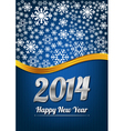 Blue happy new year card vector image