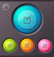 Checkbox pictogram buttons background vector image