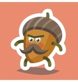 Emoticon Icon Cheeky Nut vector image