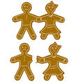 Gingerbread Couple vector image