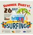 Hippie surfing poster vector image