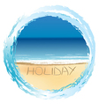 Holiday card with sunny beach vector image