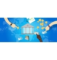 international central bank banking industry market vector image