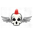 mohawk skull hairstyle vector image