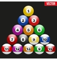 Set of billiard balls for pool vector image
