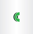 c letter green logotype icon sign vector image