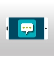 white smartphone bubble speech network digital vector image