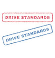 drive standards textile stamps vector image