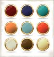 golden blank badges vector image vector image
