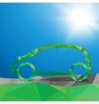 01 Eco car vector image